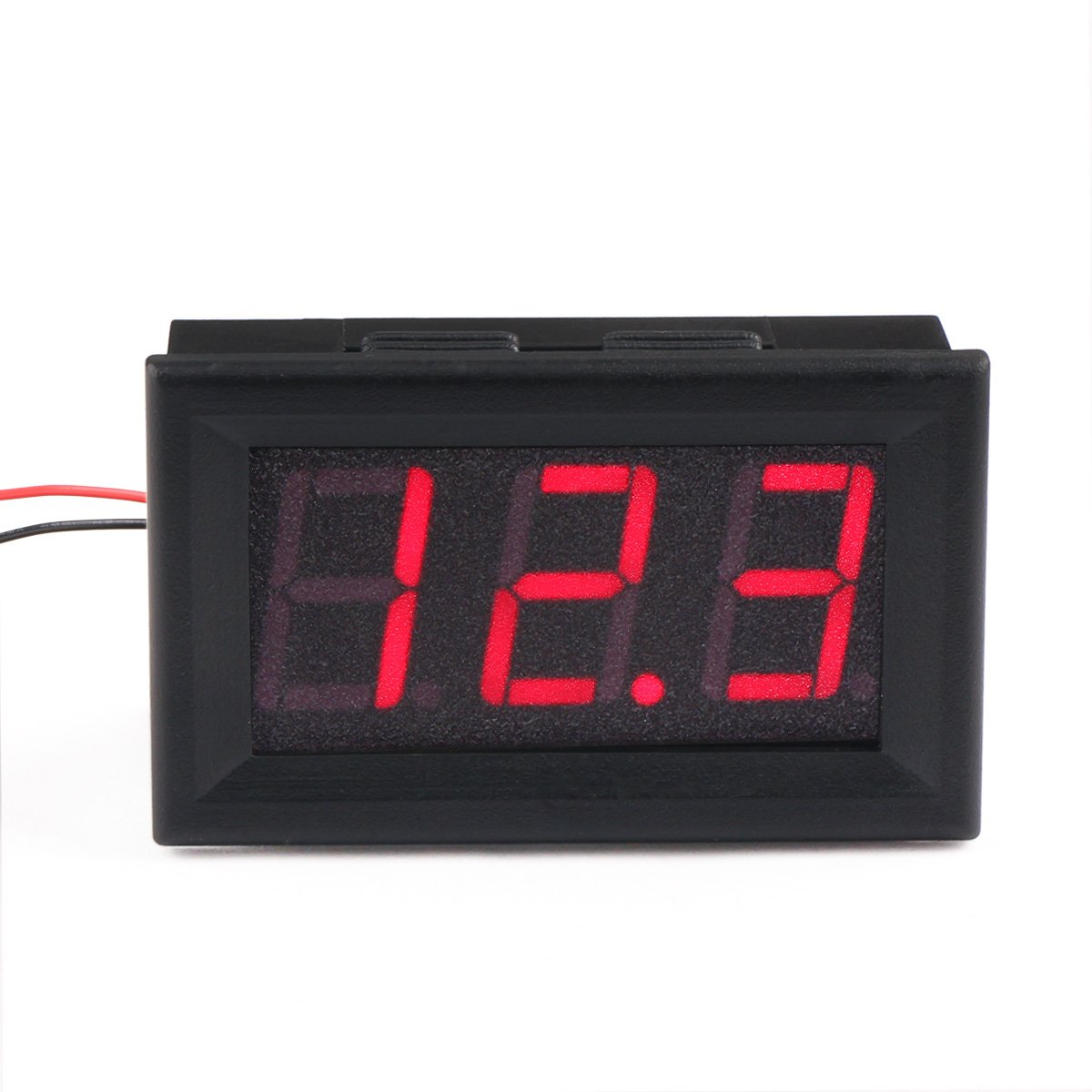 Digital Voltage Meter 12V, DROK LED Display Voltmeter Panel Precision Variable 2 Wires 3 Digits DC3.5-30V Voltage Tester 12V/24V Volt Reader Gauge Car Vehicle Solar Boat Battery Monitor Detector 100123