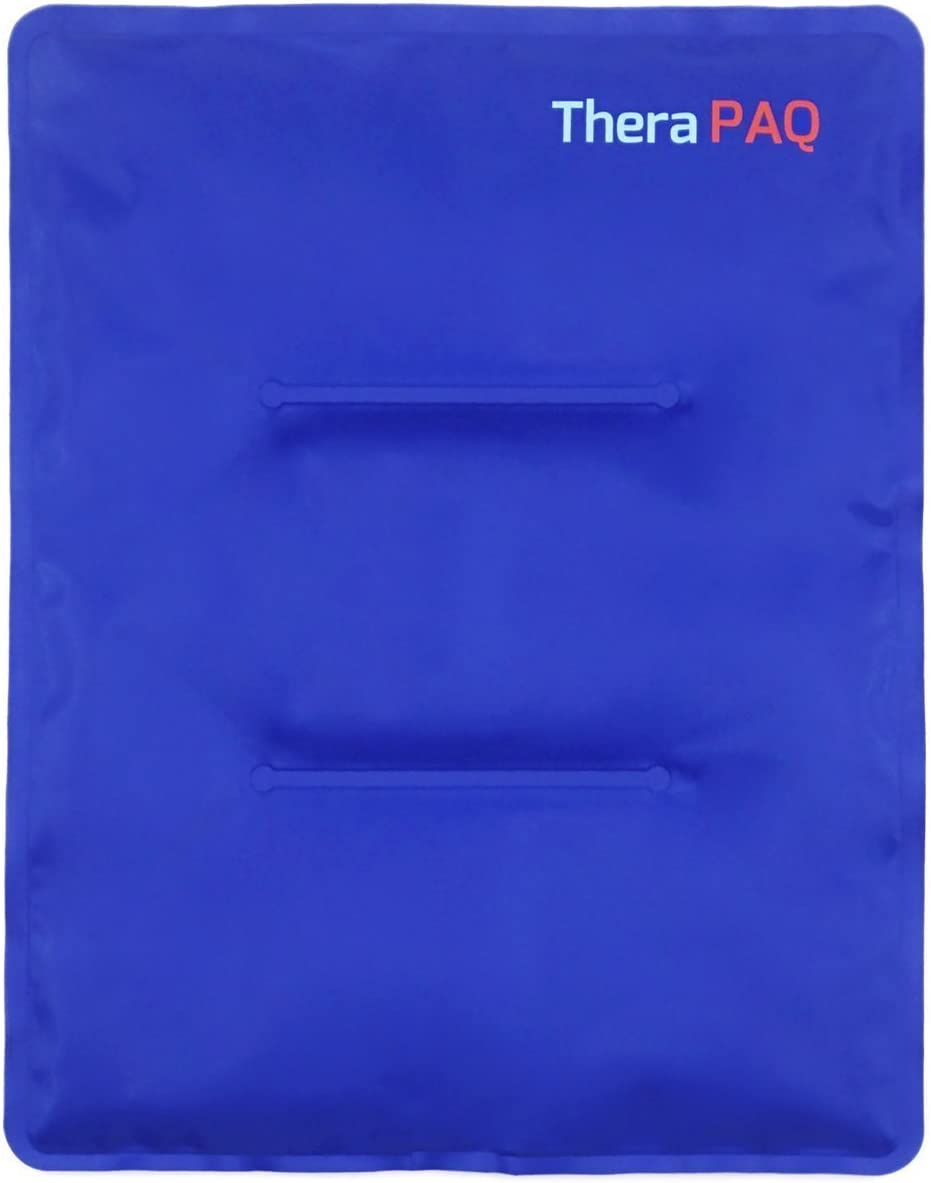 "Large Gel Ice Pack by TheraPAQ: Reusable Hot & Cold Pack for Your Hips, Shoulders, Back, Arms, Legs, Knees - Refreezable & Microwavable Gel Pad for Pain Relief & Faster Injury Recovery (XL 14"" X 11"")"
