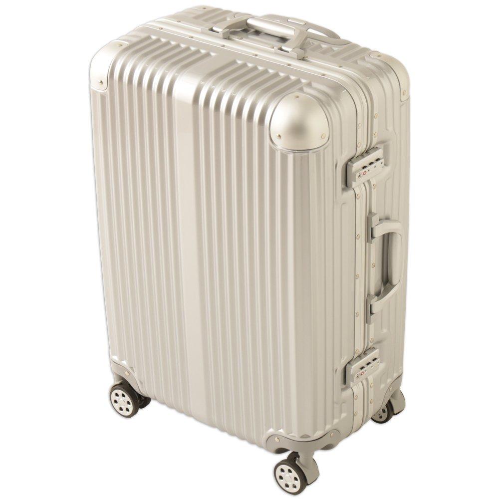 アイリスプラザ スーツケース キャリーバッグ アルミ Mサイズ B01LYBF3U5  宿泊目安:3~7泊