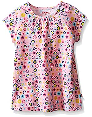 Toddler Girls' Short Sleeve Flora Top