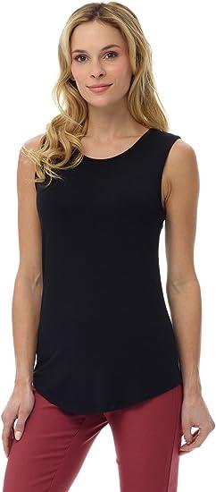 S-XXL Rekucci Camiseta sin Mangas de Punto Jersey Suave de Mujer