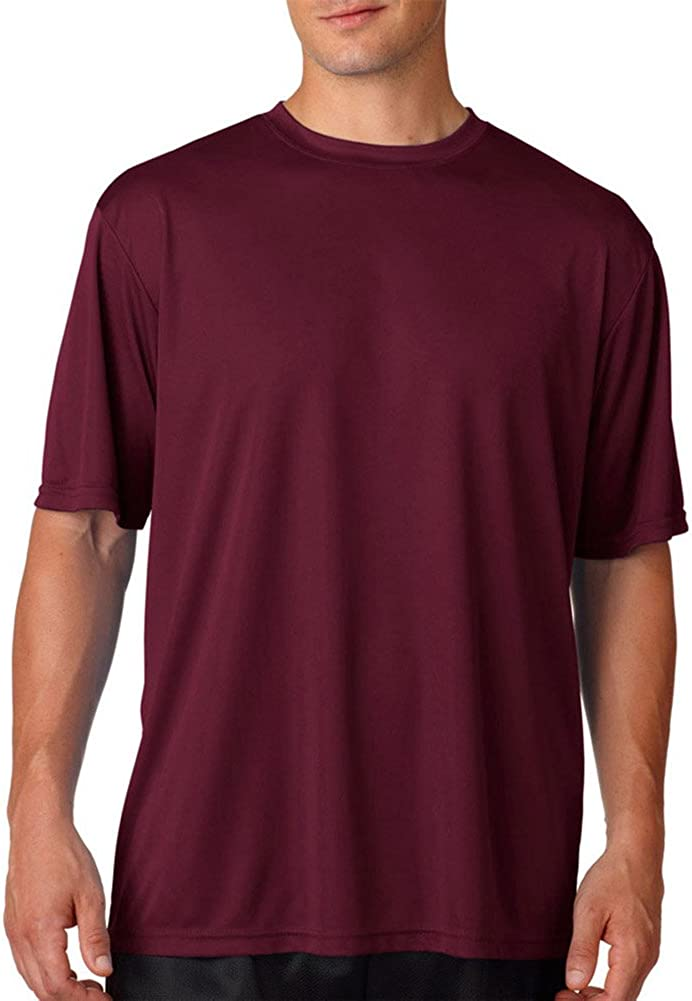 A4 Adult Cooling Performance T-Shirt, Maroon, XX-Large