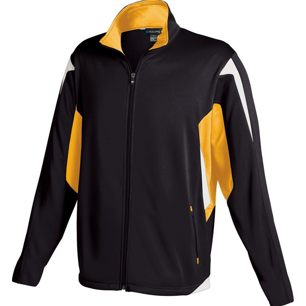 Holloway Youth Dedication Jacket (Small, Black/Light Gold/White) by Holloway