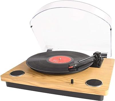 MAX Pad LP Tocadiscos para Vinilo con Altavoces estéreo ...