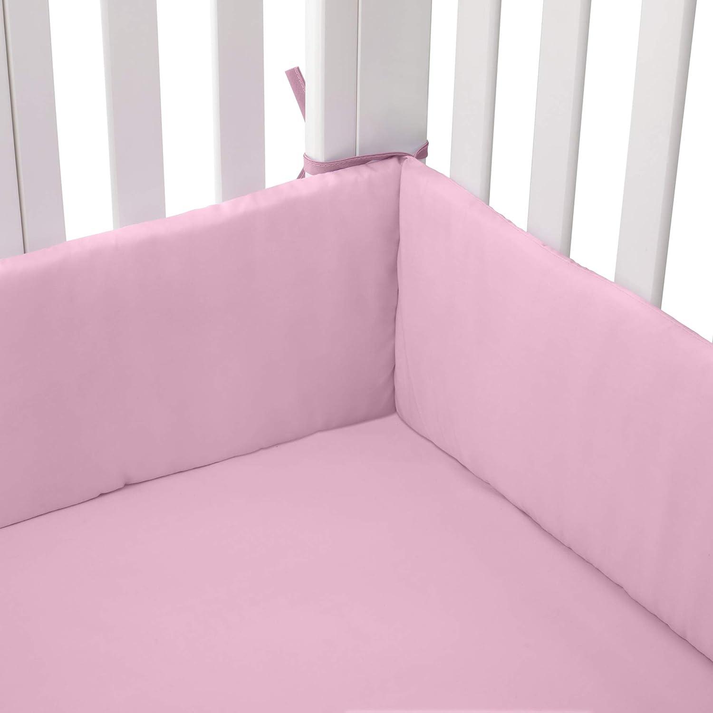 15x33 15x33 bkb 009243405962 BabyDoll Tailored Cradle Bumper Pink