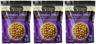 product image for Saffron Road Crunchy Seasoned Chickpeas, Bombay Spice Flavor - Pack of 3, 6 Ounces each