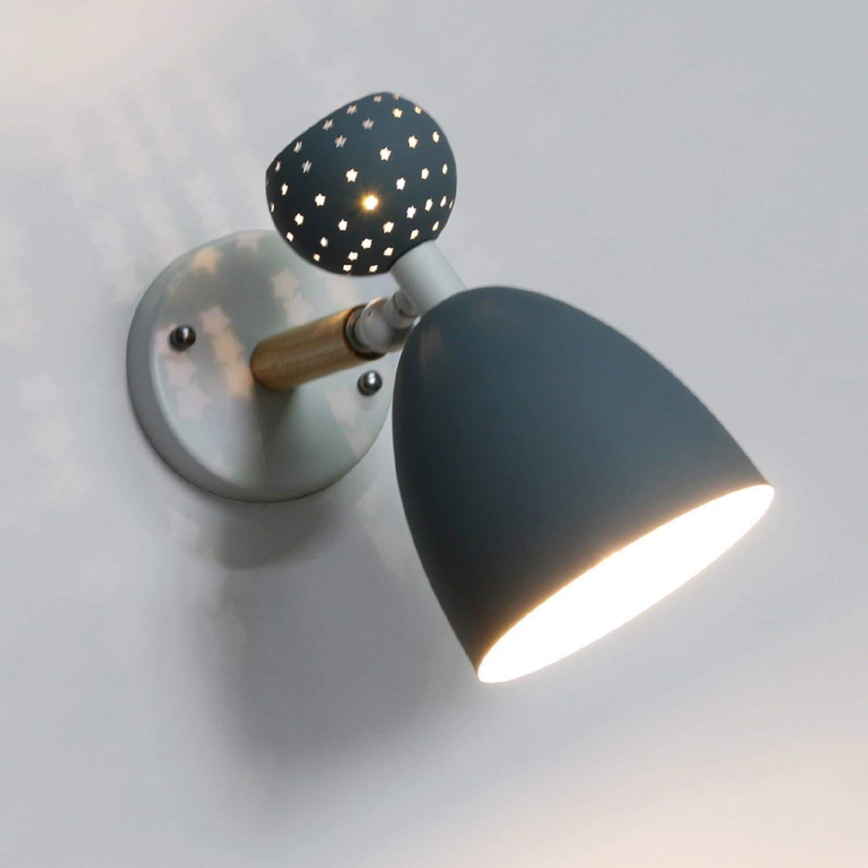 FuweiEncore Nordic Nachttischlampe Schlafzimmer Wandleuchte Modern Rotierenden Rotierenden Rotierenden von Kindern Lampen & Creative Lantern Lounge Korridor Wandleuchte E27 Kontext V 110-220 (Farbe   -, Größe   -) 7100c0