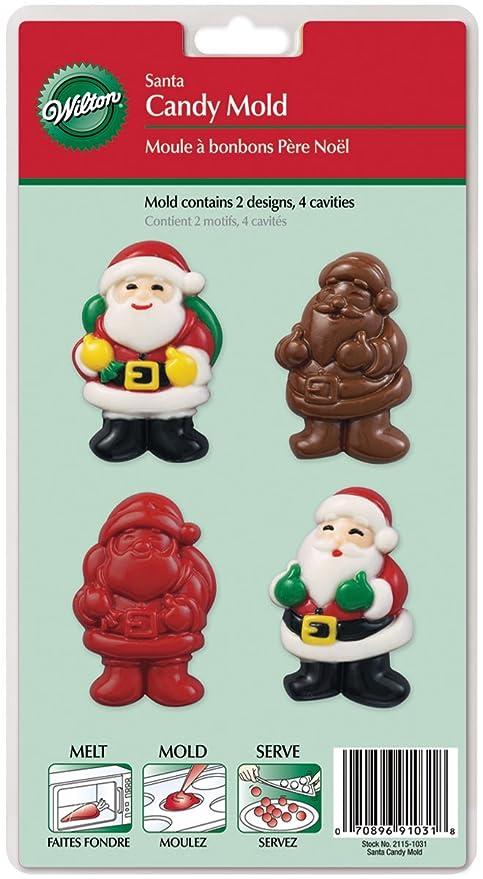 Amazon.com: Wilton – Santa Candy Mold: Kitchen & Dining