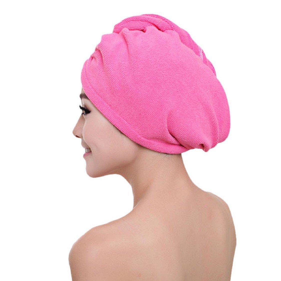 Ikevan Fashion Women Absorbent Microfiber Towel Turban Hair-Drying Cap Bathrobe Hat (08)