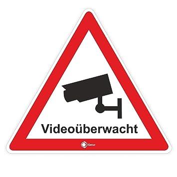 4er Set Aufkleber Videoüberwacht Innenklebend I 5 Cm I Für Fenster I Achtung Dieses Objekt Wird Per Video überwacht I Videoüberwachung I Hin123