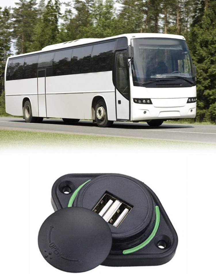 24V Typical S-tubit Chargeur de Voiture 3.1A Dual USB Adaptateur de Voiture /à Charge Rapide Prise /étanche Double Prise USB pour Bateau de Bus de Moto 12V