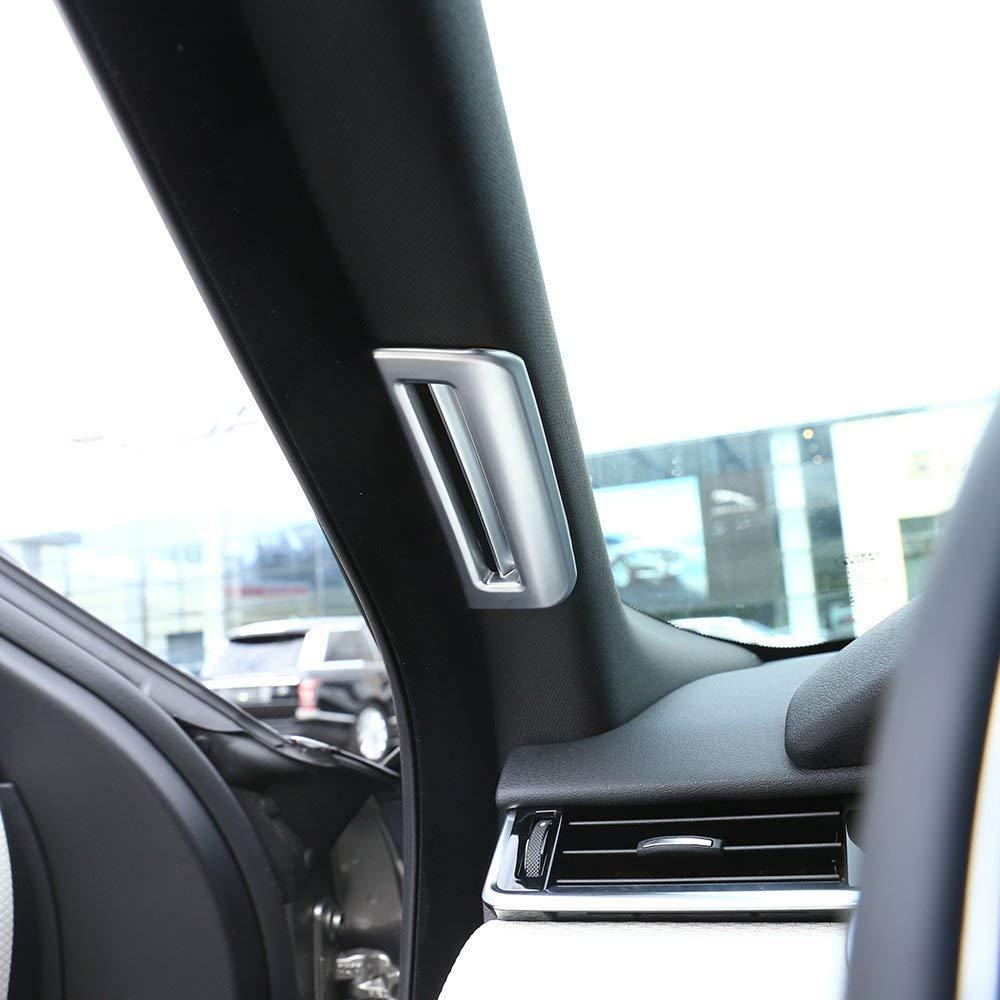 ABS Plastic Pillar Post Covers Trim Car Decal Accessories for Landrover RR Velar 2017 2018 Matte Silver Autobro