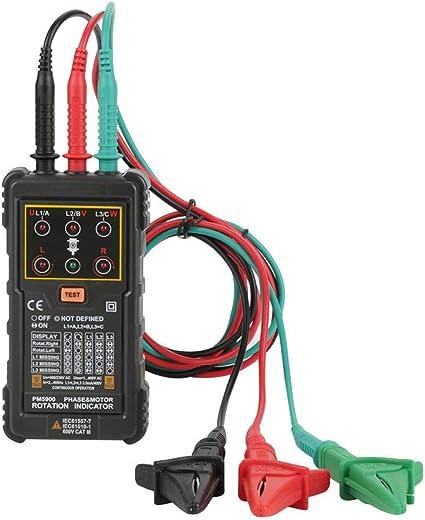 Testeur dindicateur de direction de moteur triphas/é portable Delaman Testeur de rotation de moteur