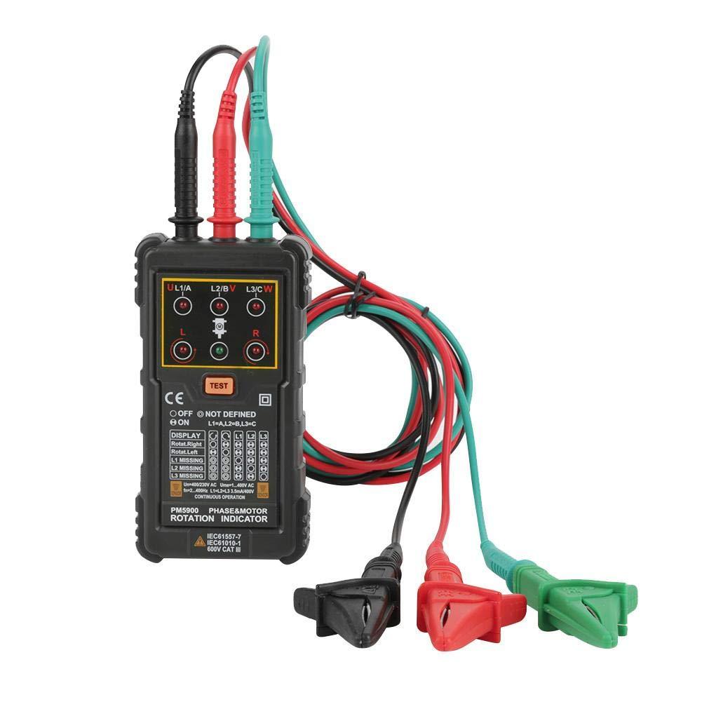 PEAKMETER PM5900 Portable Handheld Three-Phase Motor Rotation Indicator Tester