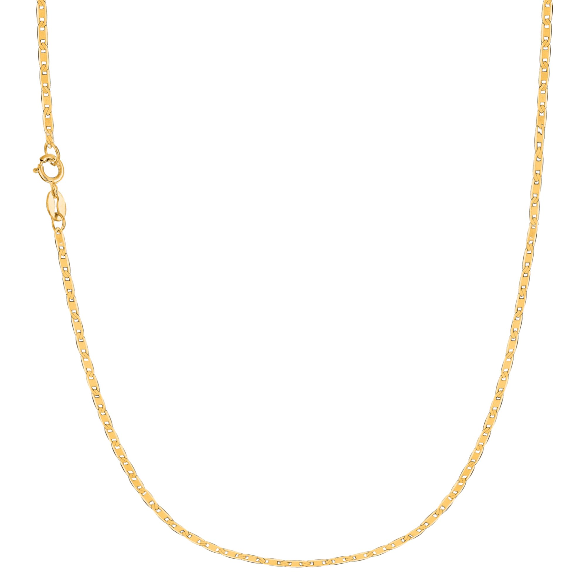 10k Solid Yellow Gold Mariner Link Chain 18 Inches