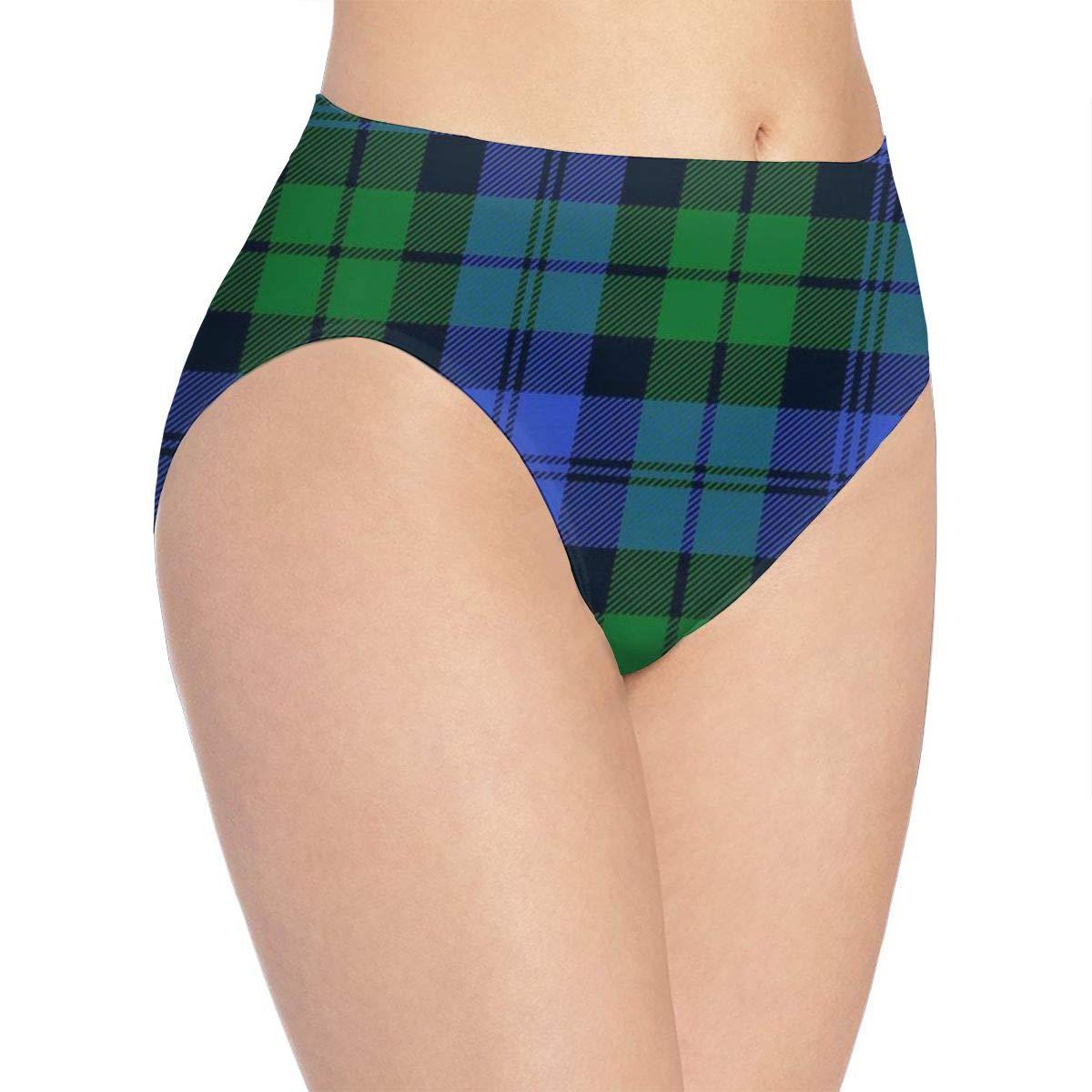 YIPOO Campbell Tartan 2 Womens Underwear Brief Panty Novelty Fun Crazy Supersoft Comfort Bikini