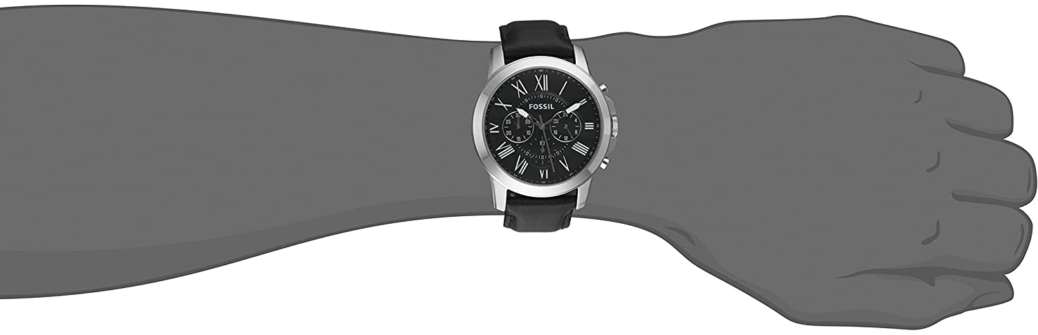 38c9361a1 Fossil Men's FS4812 Grant Analog Display Quartz Black Watch: Fossil:  Amazon.ca: Watches