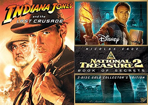 Lost Treasure Collection: Indiana Jones and the Last Crusade & National Treasure 2: Book of Secrets (2-Disc Collector's Edition) 2-Movie Bundle