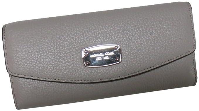 8072c54e7744 Michael Kors Jet Set Item Slim Flap Leather Wallet Pearl Grey at ...
