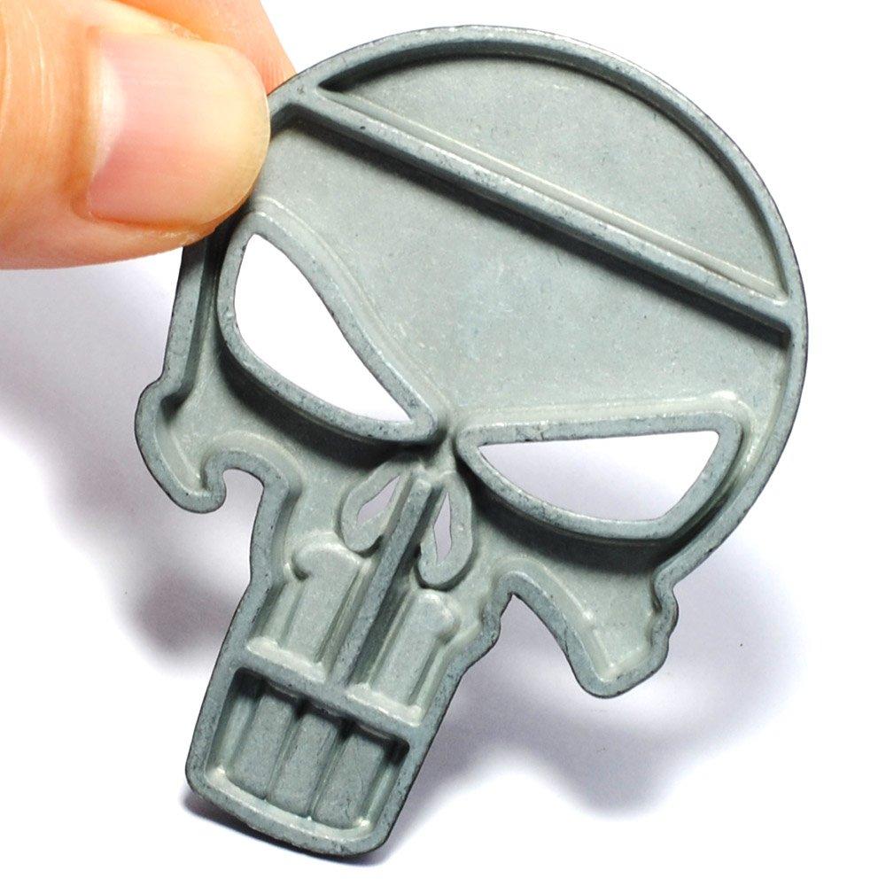Pegatina 3D calavera negra sticker para cascos coches motos ciclomotores bicicletas de OPEN BUY