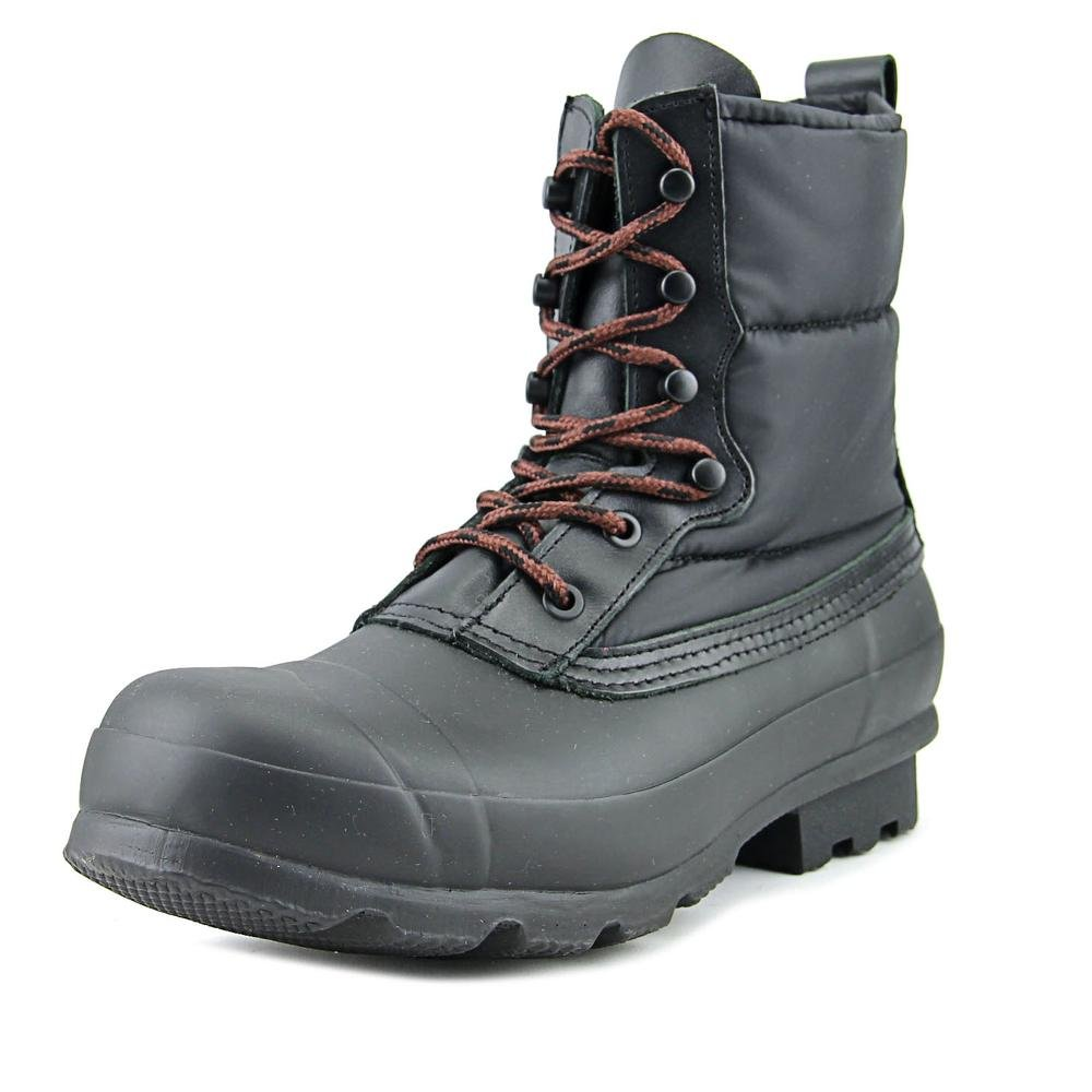 Hunter ORIGINL Quilted Lace Up Short Men US 8 Black Snow Boot