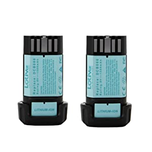 Lotive 2Pack 8V 1500mAh Li-ion Battery Compatible With Dewalt DCB080 Cordless Drill Tools