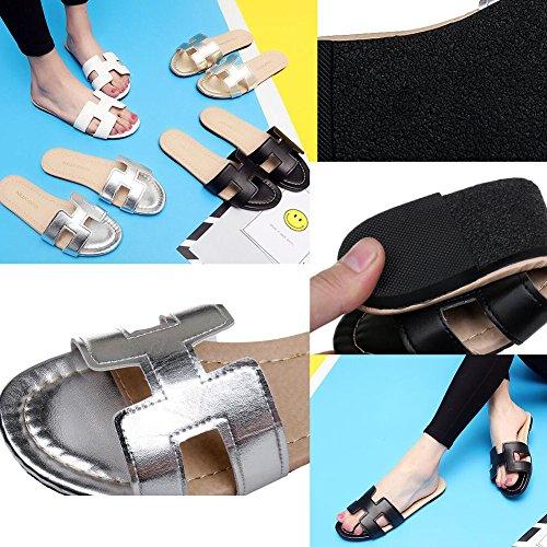 Sandales plates pour femme Chaussons d'été pour la plage