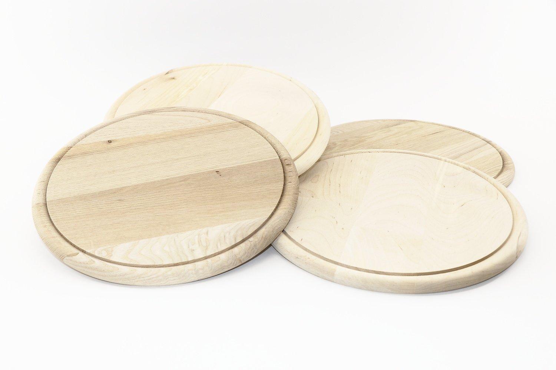 RMB® Set di taglio Tagliere Rotondo 23cm affettati di Brett per servire e decorare, naturale