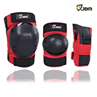 JBM Adult/ Child Knee Elbow Pads Wrist Guards 3 in 1