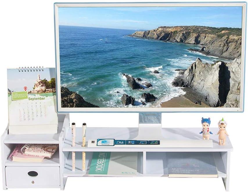 木製2段式スクリーンライザー シンプルなモニタースタンド モニターライザー スクリーンスタンド デスクアタッチメント スクリーン強化 デスクトップオーガナイザー ディスプレイマウントラック iMac モニター ノートパソコン CY1076用