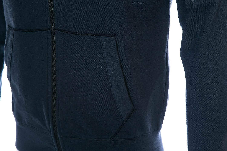 CP Company Arm Lens Zip Hood Sweat Top in Navy