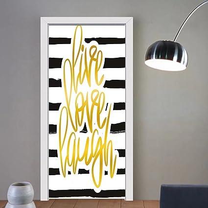 Amazon.com: Gzhihine custom made 3d door stickers Live Laugh Love ...