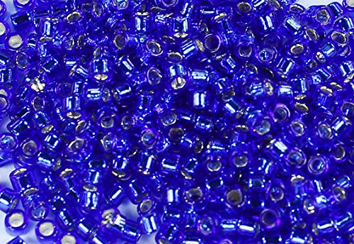 Toho Treasure Beads (11/0 TOHO Treasures Japanese Glass Seed Beads #28-Silver-Lined Cobalt 5g)