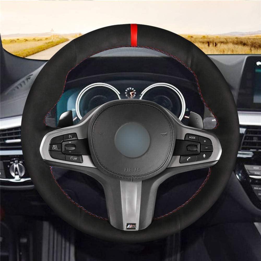 JNXZHQCT Couvre Volant de Voiture en Cuir Noir./pour BMW Sport G30 G31 G32 G20 G21 G14 G15 G16 X3 G01 X4 G02 X5 G05