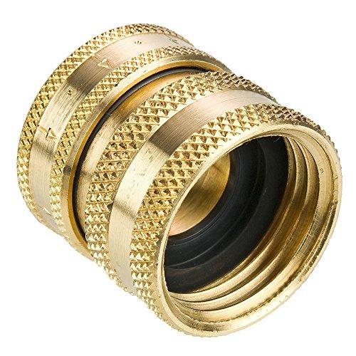 Parker 1163-60-BPD Garden Hose Fitting, Hose Thread, Brass, Hose Thread Coupler, ()