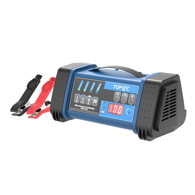 TOPAC 2/6/10A 12/24 Volt Smart Car Battery Charger