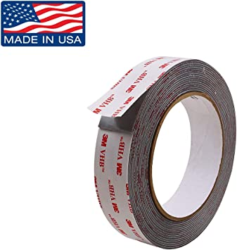 """Double Sided acrylic Foam High Strength Adhesive Tape 60 Ft of 1//4/"""" Width roll"""