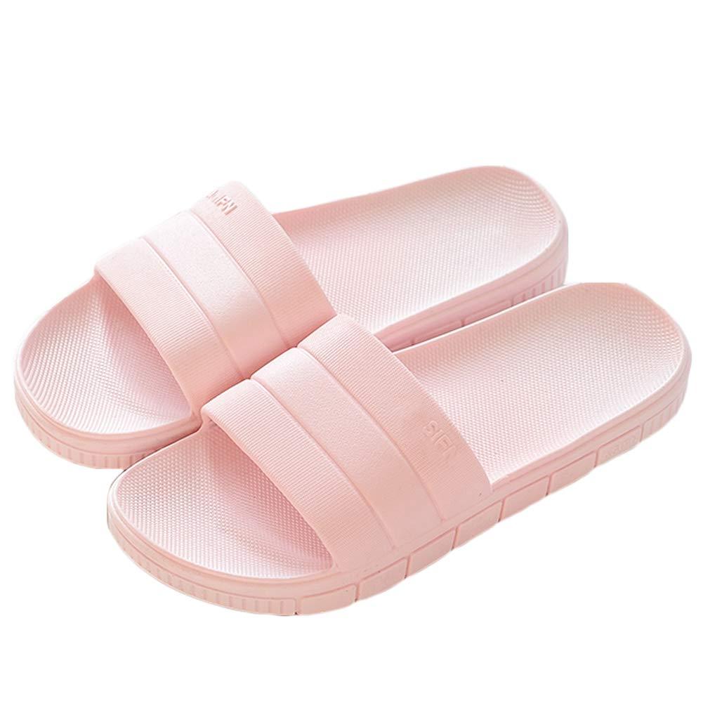 LINE BLUE Women and Men Bath Slipper Anti-Slip For Indoor Home House Sandal,Pink,40.41