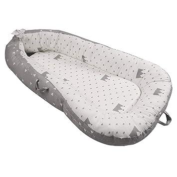 Luchild Nido Bebé Recién Nacido, Reductor de Cuna Nidos, Cama cana nido de viaje Doble Caras para bebe dormir
