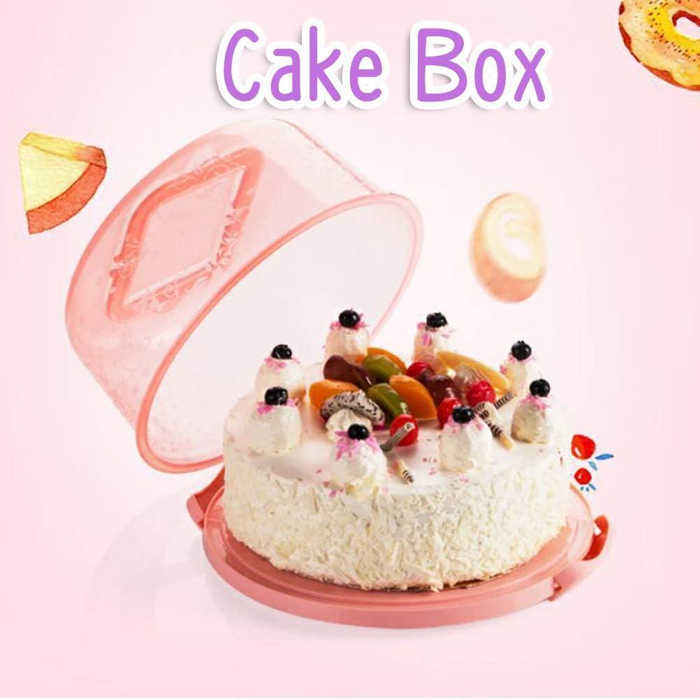 contenedores para tartas Caja de almacenamiento port/átil para cupcakes con asa transparente para tartas BASOYO