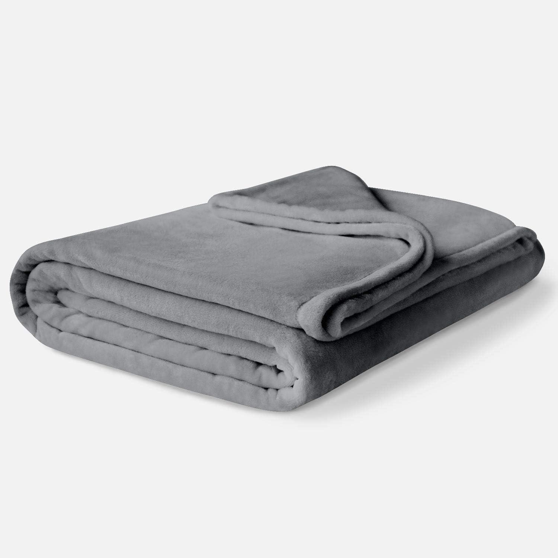 Fleece Winter Blanket King Size | Soft & Plush, Lightweight Design | Dark Gray Throw Blanket for Sofa