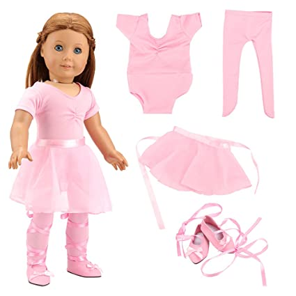f49abca6d62b Amazon.com  BARWA 18 Inch Doll Clothes Ballet Ballerina Outfits ...