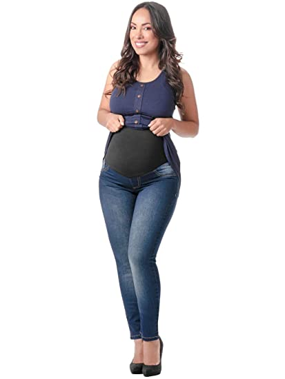 Buy L O W L A Shapewear M219898 Maternity Skinny Ankle Stretch Jeans Pants For Pregnant Women Pantalones Jeans Maternos Ropa Para Embarazadas Modernas Blue 5 At Amazon In