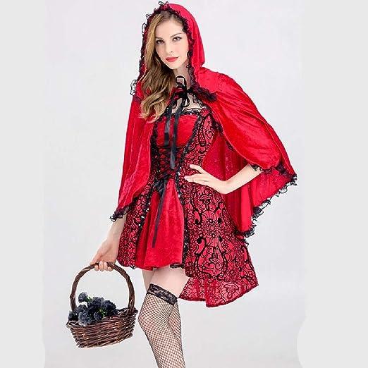 Pkfinrd Disfraz de Caperucita Roja for Mujer Fiesta de Navidad de ...