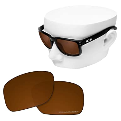 b7b5a205715 OOWLIT Replacement Sunglass Lenses for Oakley Holbrook POLARIZED (Brown