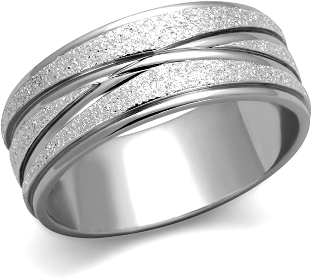 Stainless Steel Wedding Band Ring Polished Antiqued 5 mm Antiqued 5mm Band