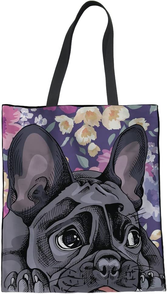 Yorkshire Terrier Puppy Image Reusable Large White Shopping Bag 38 x 42cm