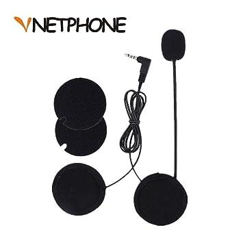 VNETPHONE® Micrófono Auriculares para V6 Motocicleta Casco Bluetooth Intercomunicador Interphone