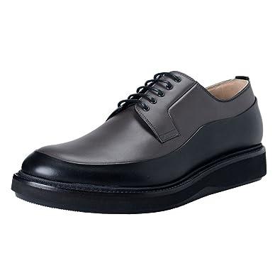 Dior Homme Gris Cuir Noir Derby Oxfords Chaussures - - Gray   Black, 40 EU 68ca3952c24