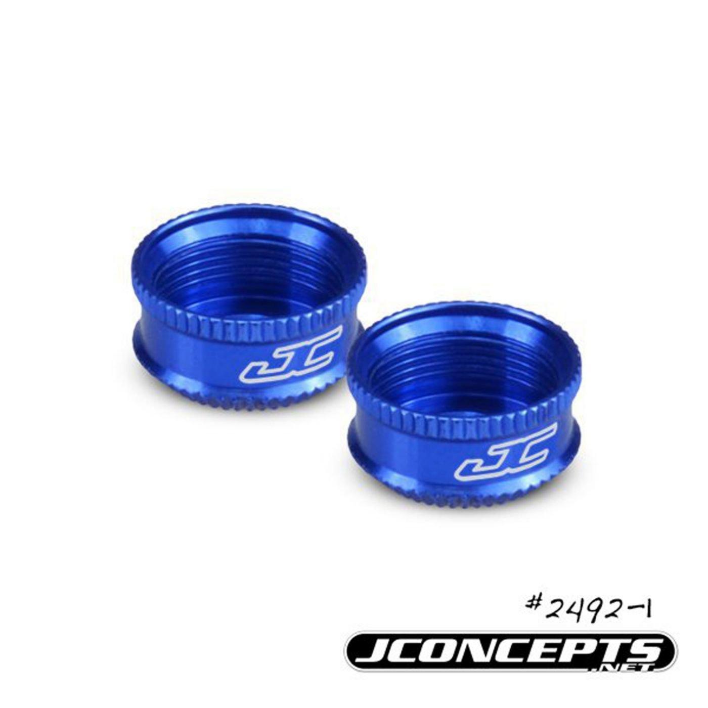 Blue 12mm Shock Bottom Cap 2pc Fits Associated 12mm V2 Shock J Concepts Fin